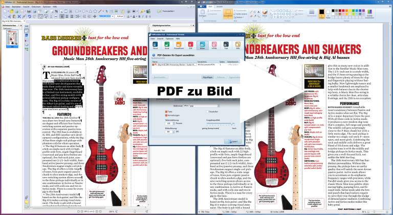 PDF in JPG umwandeln mit PdfGrabber - Screenshot