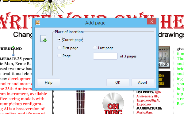 Add a new page to a PDF document