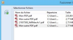 Fusionner des documents