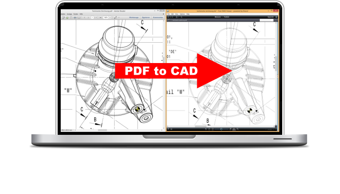 Convert PDF into DXF and edit in AutoCAD, etc.