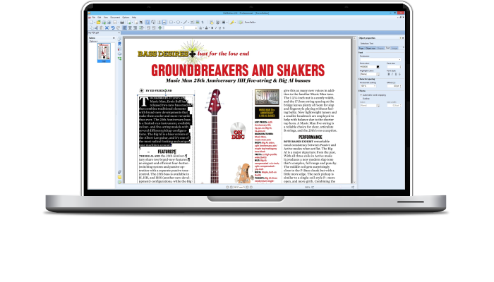Edit PDF files with PdfGrabber