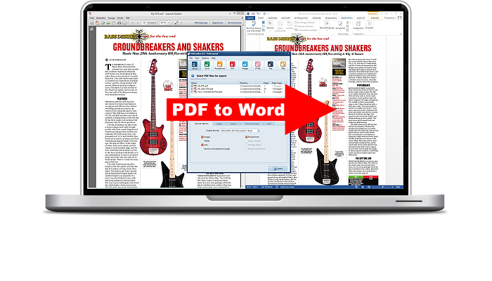 Convert PDF to Word and other formats