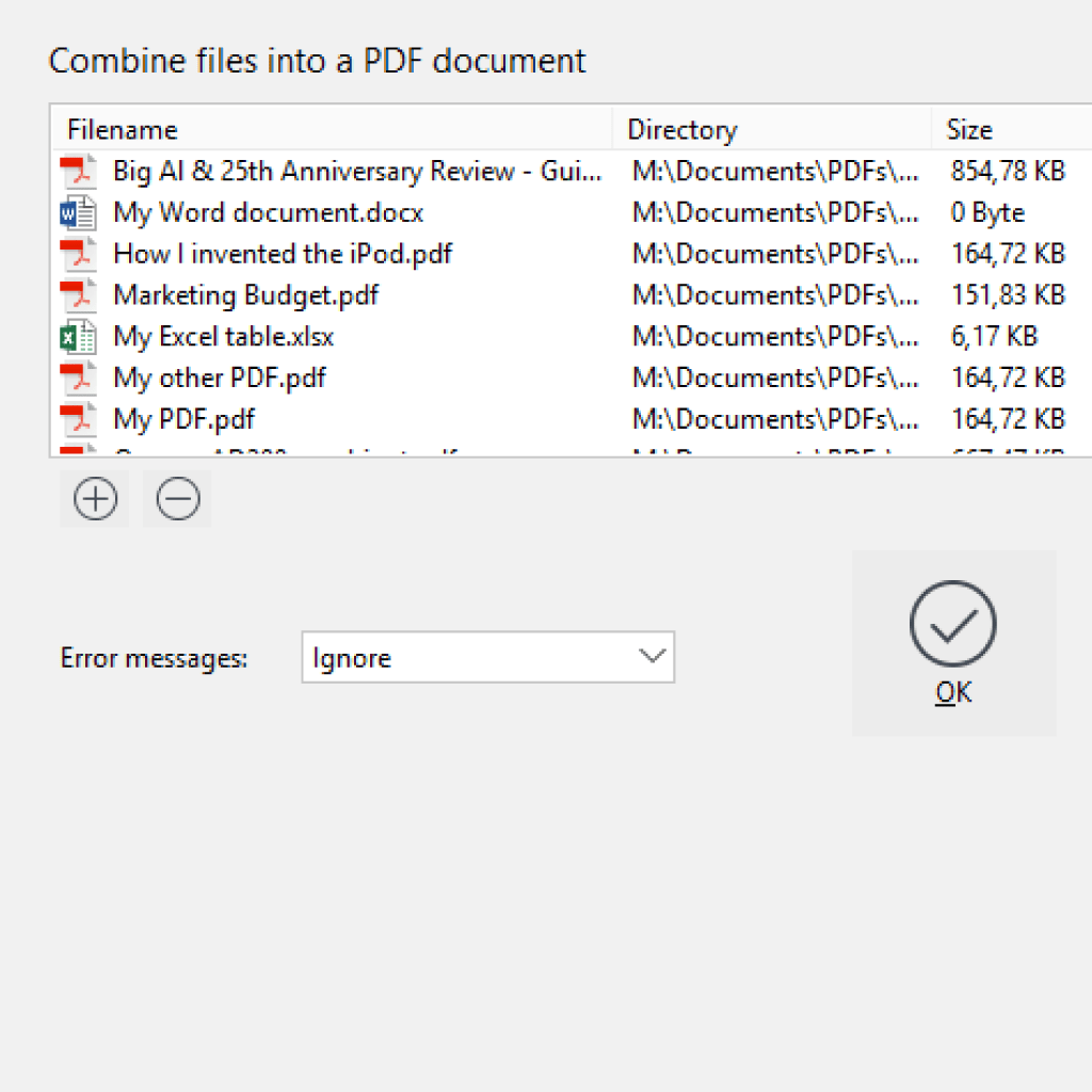 Screenshot (Zoom): Merge PDFs and other documents with PdfEditor