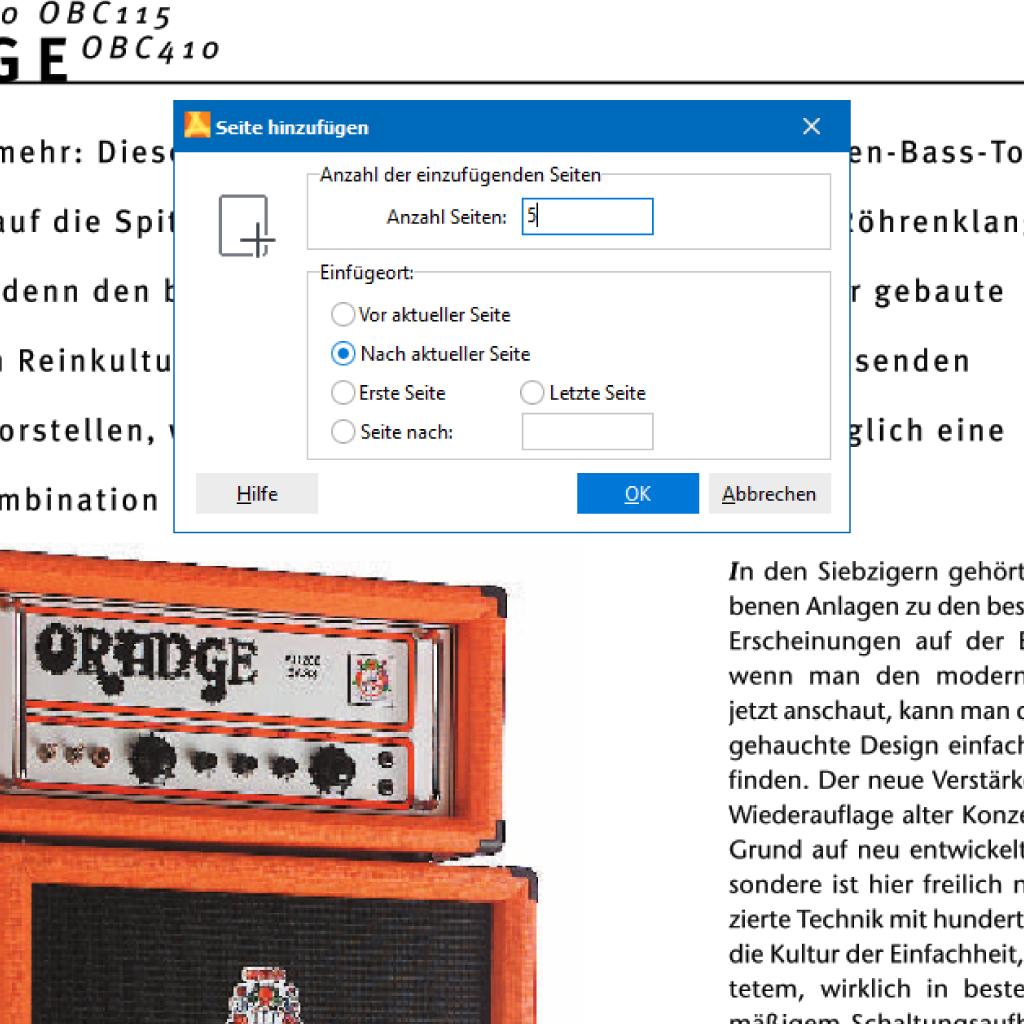 Screenshot (Zoom): Seiten in PDF einfügen mit PdfEditor