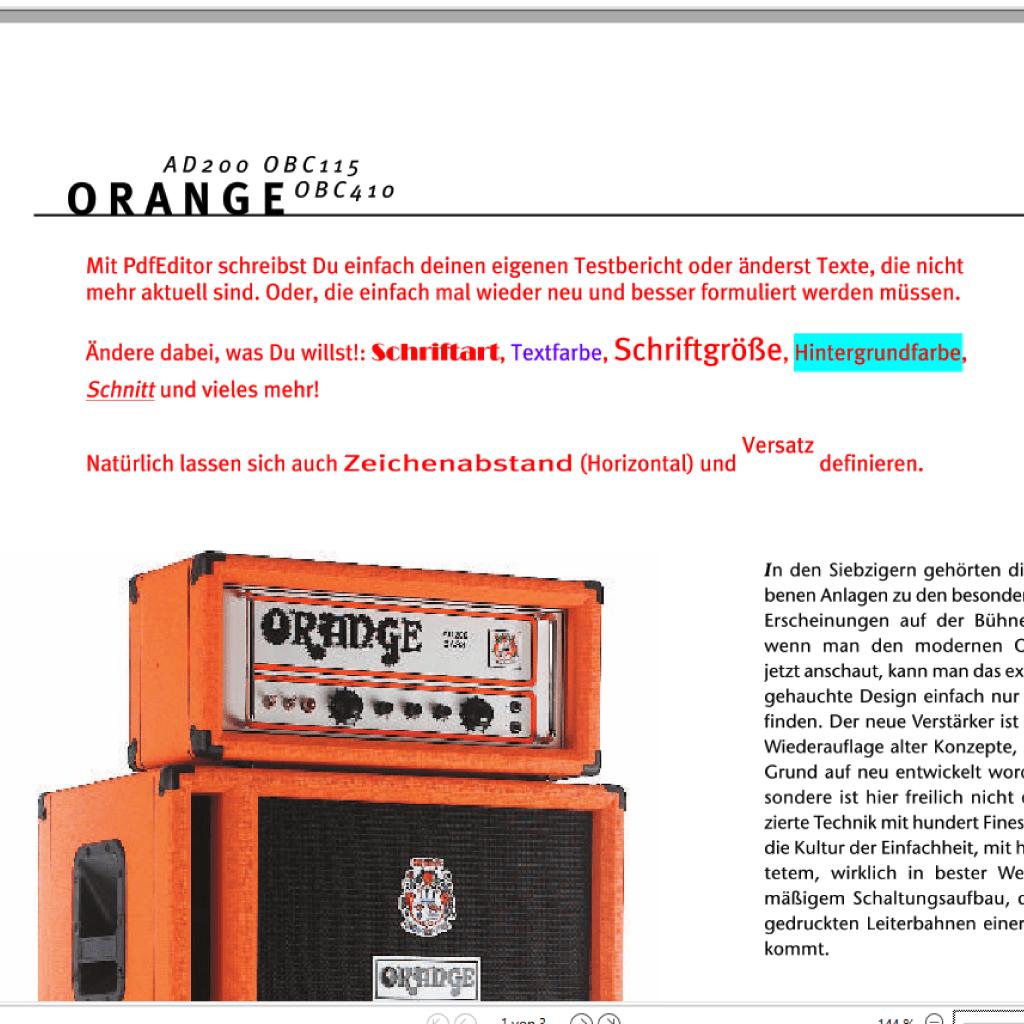 Screenshot (Zoom): mit PdfEditor geänderter Text im PDF