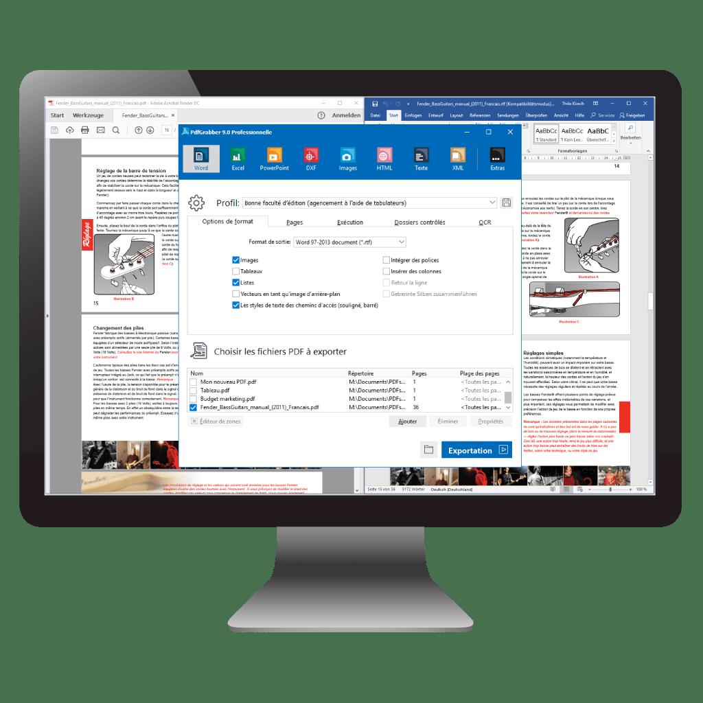 mac convertir pdf en word