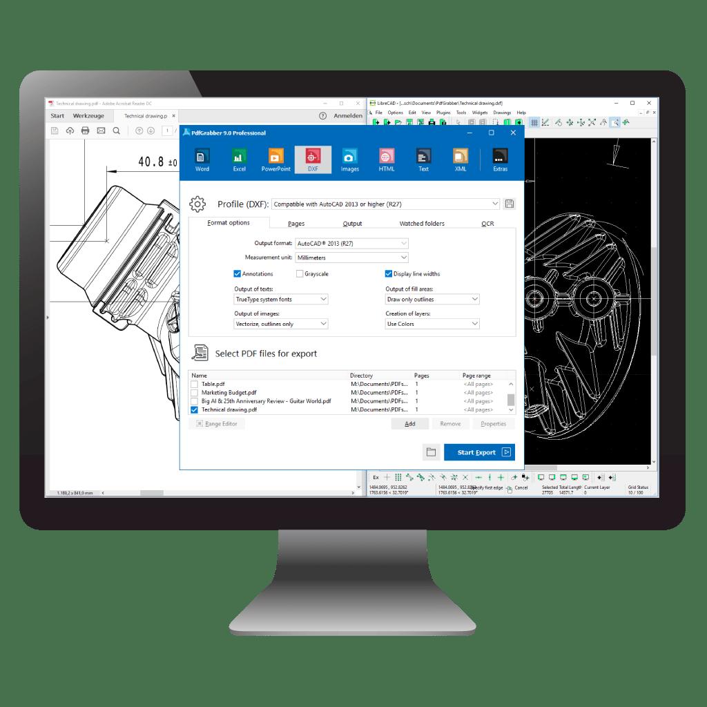 Comparison : PDF to CAD / DXF / AutoCAD (PdfGrabber)