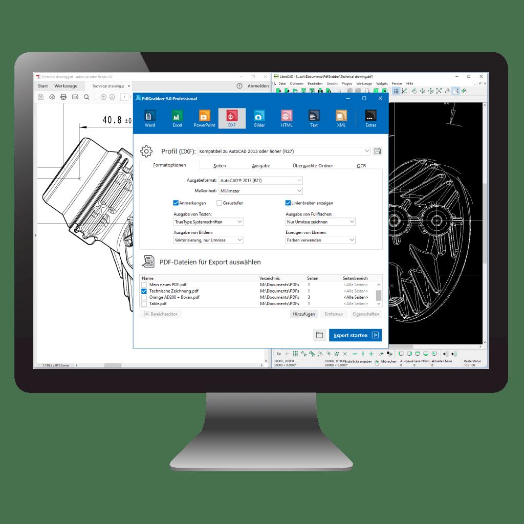 PDF in CAD umwandeln mit PdfGrabber