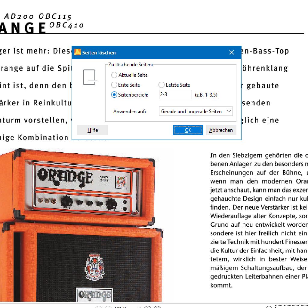 Screenshot (Zoom): Seiten aus PDF löschen mit PdfEditor