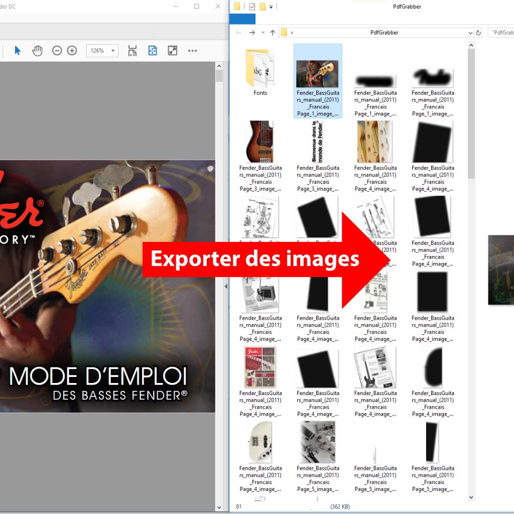 Comparaison: Exporter des images avec PdfGrabber