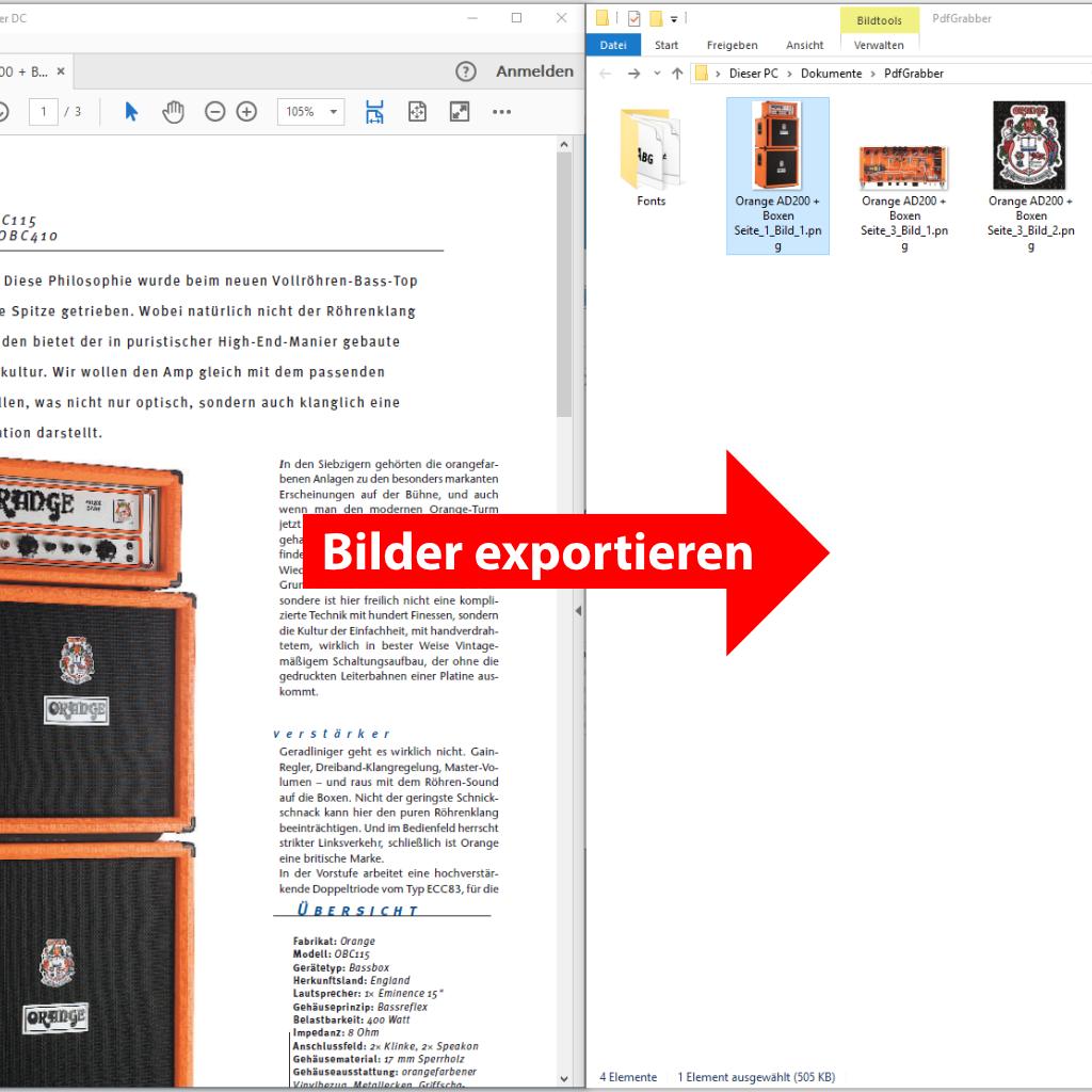 Bilder aus PDF exportieren / abspeichern