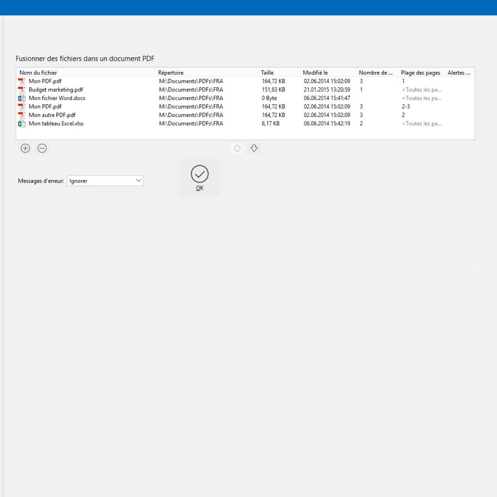Fusionner des fichiers PDF avec PdfEditor