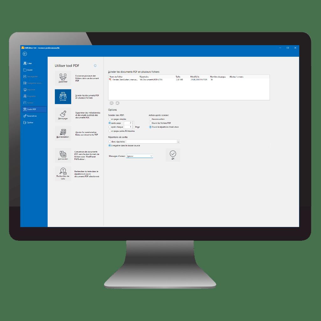 Fusionner et divider des fichiers PDF avec PDFEDITOR