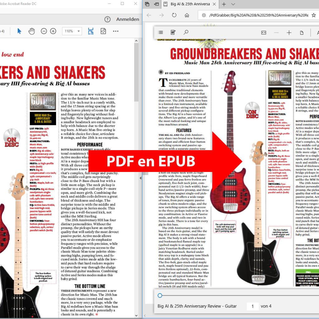 Convertir les PDFs en ePUB / eBook avec PdfGrabber