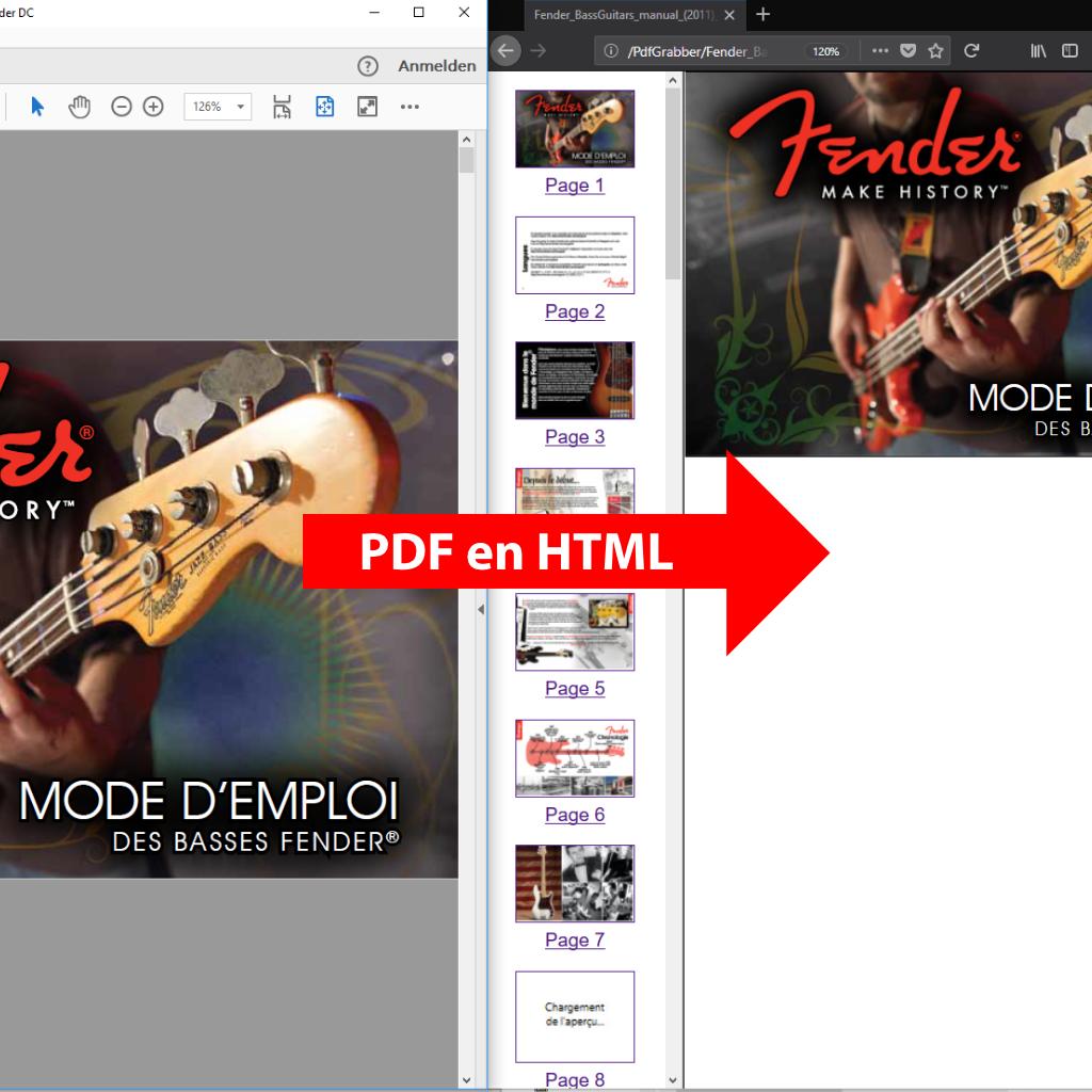 Convertir les PDFs en HTML avec PdfGrabber