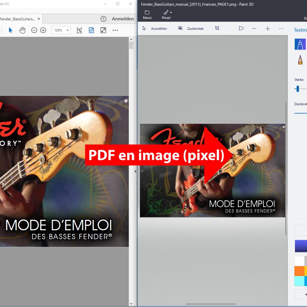 Convertir les PDF en image (pixel) avec PdfGrabber