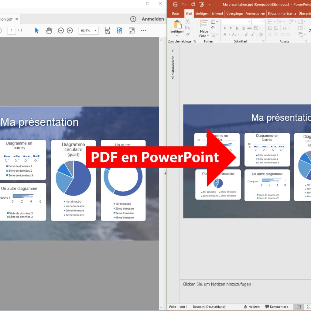 Comparaison: PDF en PowerPoint (PdfGrabber)