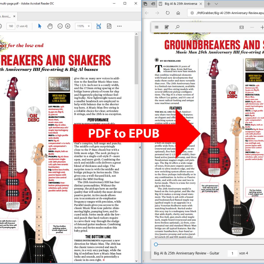 Comparison (Screenshot): PDF to ePUB